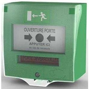 Buton verde de urgenta, UTC Fire & Security DMV1C_EN