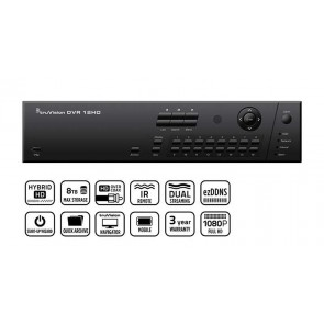 DVR hibrid 16 canale, TruVision TVR-1216HD-8T